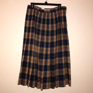 Vintage Pendleton Virgin Wool Skirt
